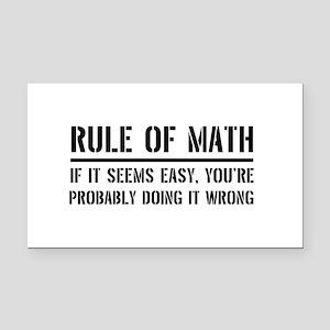 Rule of math Rectangle Car Magnet