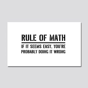 Rule of math Car Magnet 20 x 12
