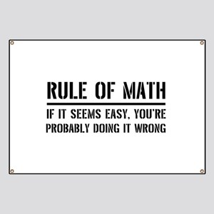 Rule of math Banner