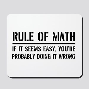 Rule of math Mousepad