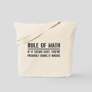Rule of math Tote Bag