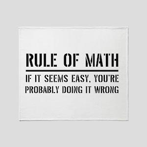 Rule of math Throw Blanket