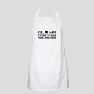 Rule of math Apron