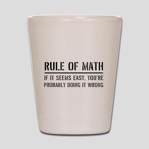Rule of math Shot Glass
