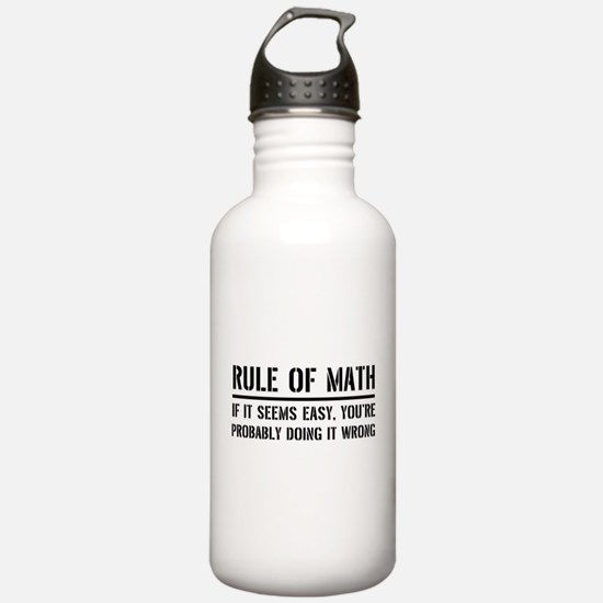 Rule of math Water Bottle