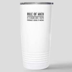 Rule of math Travel Mug