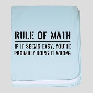 Rule of math baby blanket