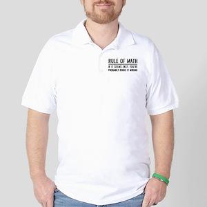 Rule of math Golf Shirt
