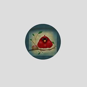 Cardinal Family Mini Button