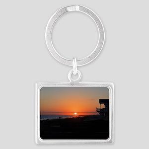 Beautiful Beach Sunset Landscape Keychain