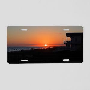 Beautiful Beach Sunset Aluminum License Plate
