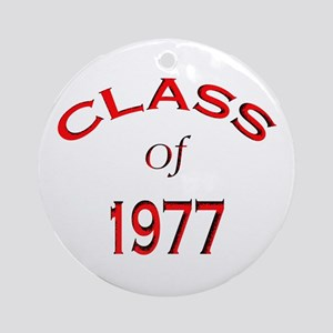 """""""Class of 1977""""  Ornament (Round)"""