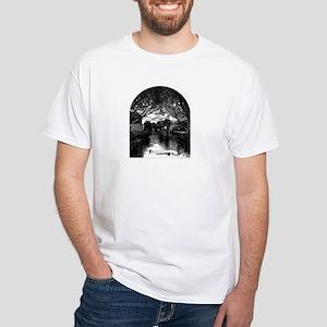 b&W art design White T-Shirt