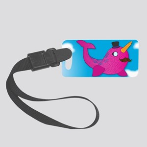 Fancy Norwhal Small Luggage Tag