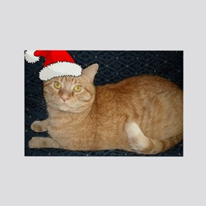 Christmas Orange Tabby Cat Rectangle Magnet