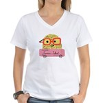 Nerdy Chicks Rule Summer School V-Neck T-Shirt