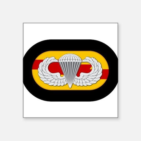 "75th Ranger Airborne oval Square Sticker 3"" x 3"""