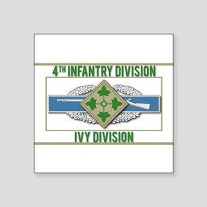 "4th Infantry Ivy CIB Square Sticker 3"" x 3"""