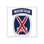 10th Mountain Square Sticker 3