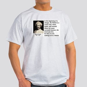 Mark Twain Patriotism Light T-Shirt