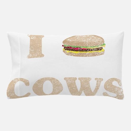 I hamburger cows Pillow Case