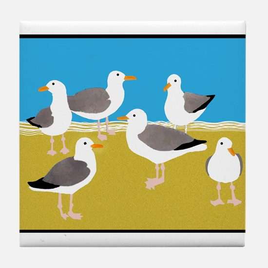 Cute Gull Tile Coaster