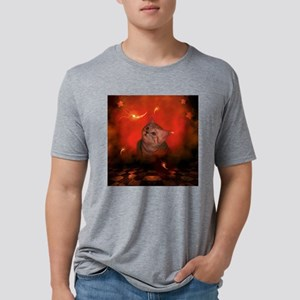 Cute little kitten, red background T-Shirt