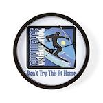 Skier Challenge Wall Clock