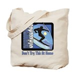 Skier Challenge Tote Bag