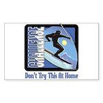 Skier Challenge Rectangle Sticker