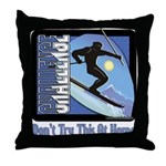 Skier Challenge Throw Pillow