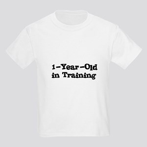 1-Year-Old In Training Kids Light T-Shirt