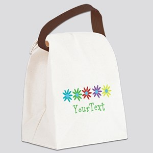 Personalize Flowers Canvas Lunch Bag
