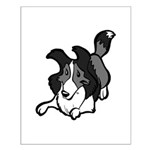 Collie Play Bows Small Poster