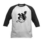 Collie Play Bows Kids Baseball Jersey