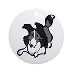 Collie Play Bows Ornament (Round)