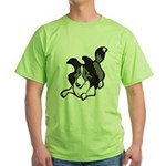 Collie Play Bows Green T-Shirt