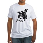 Collie Play Bows Fitted T-Shirt