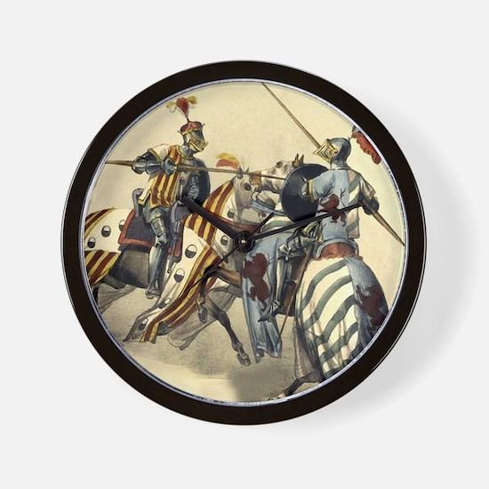 Knights Jousting Wall Clock