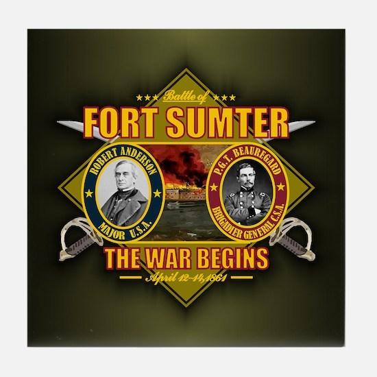 Fort Sumter Tile Coaster