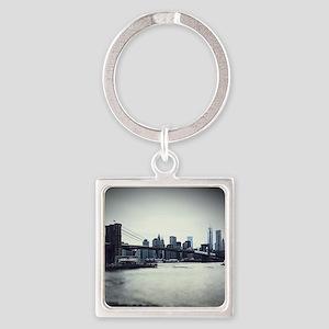 Brooklyn Bridge Square Keychain