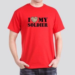 I Love my soldier Dark T-Shirt