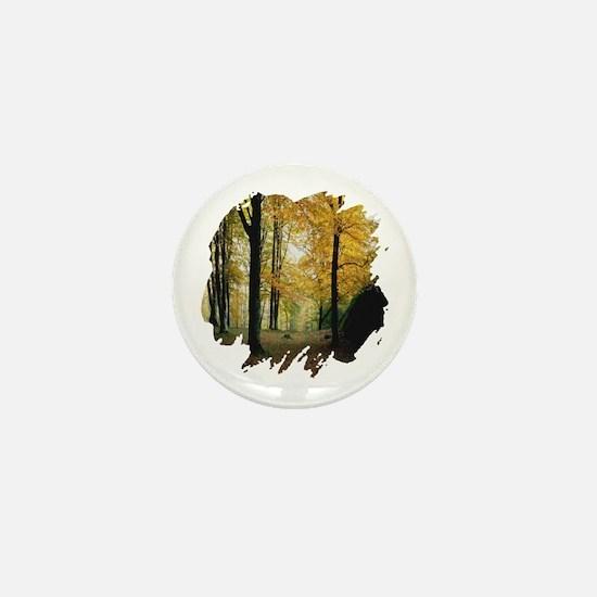 Autumn Woods Mini Button