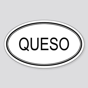 QUESO (oval) Oval Sticker