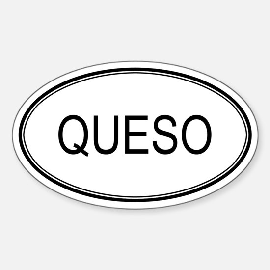 QUESO (oval) Oval Decal
