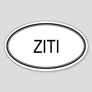 ZITI (oval) Oval Sticker