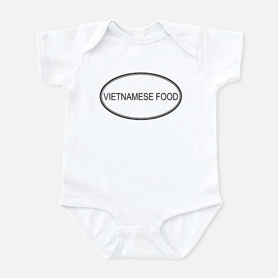 VIETNAMESE FOOD (oval) Infant Bodysuit