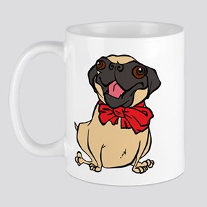 Pug with a bow Mug
