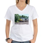 CSX Q190 Doublestack Train Women's V-Neck T-Shirt