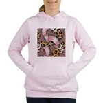 Leopards and Lace - Pink Women's Hooded Sweatshirt